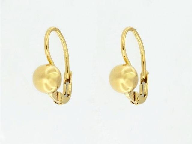 18KT French Back Ball Earrings