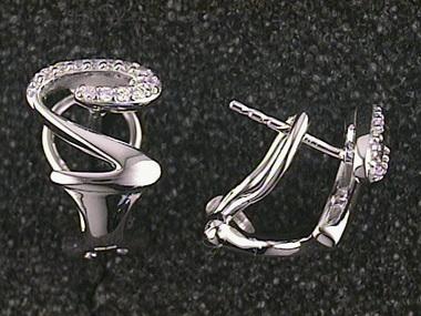 .15ctw Fancy Diamond Earrings
