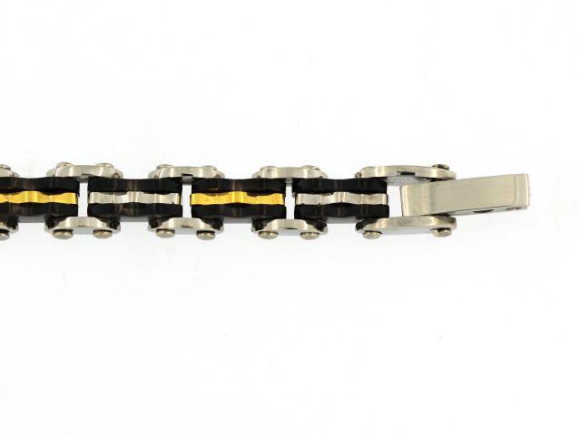 Tri Colour Steel Bracelet