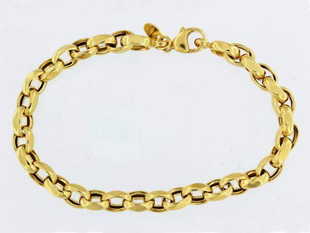 14KT Belcher Link Bracelet