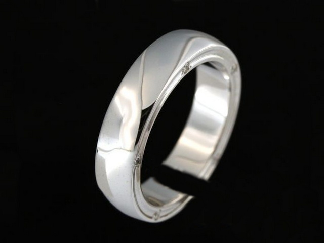 Gents 14KT Band with Diamonds