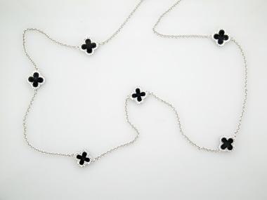 32 inch Quartrefoil Necklace