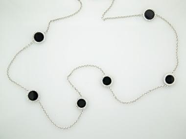 Onyx Circles Necklace