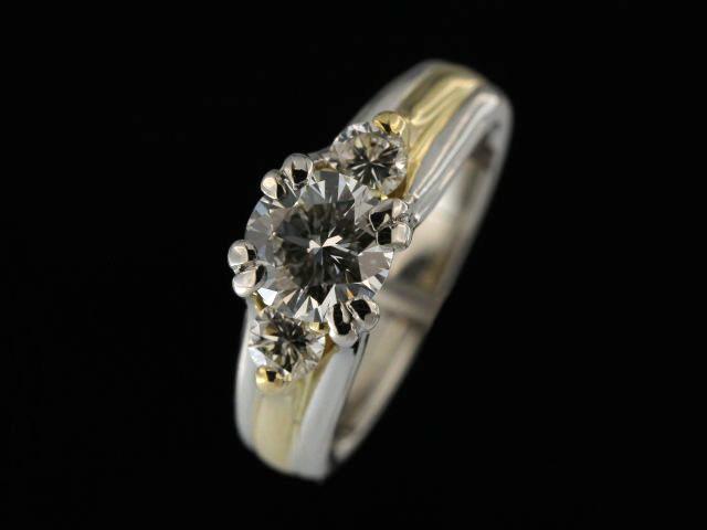 Platinum & Gold Trinity Ring