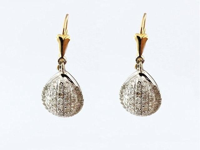 14KT Fancy Diamond Earrings