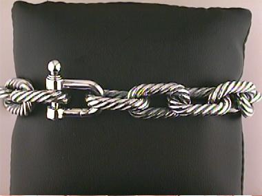 Silver Cable Bracelet