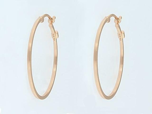 ELLE Rose Hoop Earrings
