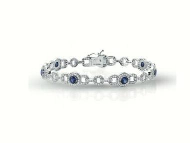 Sapphire & Cubic Bracelet