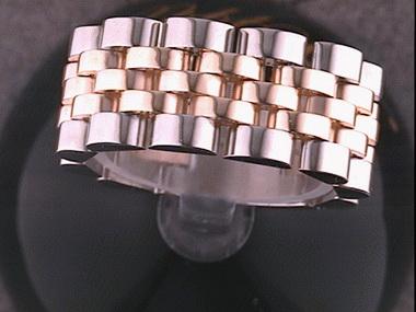 14kyw 9mm Jubilee Link Flex Ring