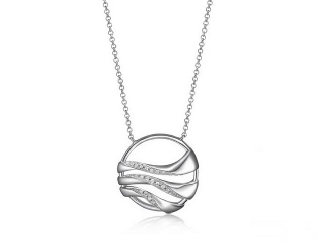 Round Moon Shadow Necklace