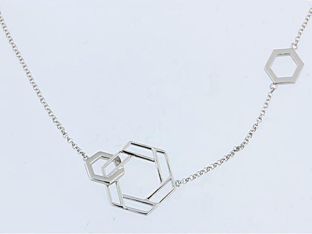 ELLE Lattice Hexagon Necklace