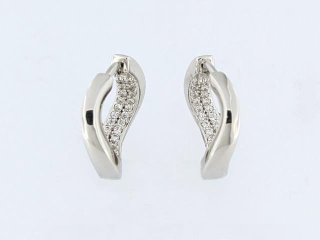 ELLE Ocean Twist Huggie Earrings