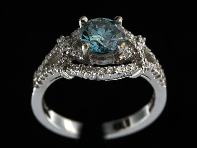 1.10ct Blue Diamond Ring