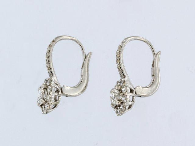 Diamond French Back Earrings