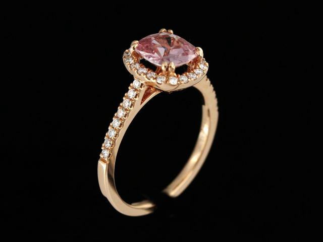 1.67 ct Padparadscha Sapphire Ring